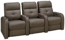 Palliser Audio 3 Piece Reclining Sectional with Power Tilt Headrest