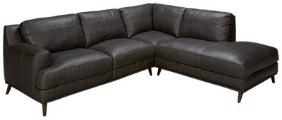 2 Piece Leather Sectional