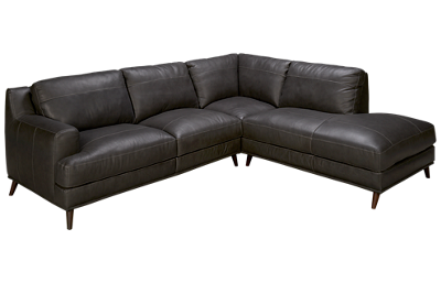 Soft Line Caruso 2 Piece Leather Sectional