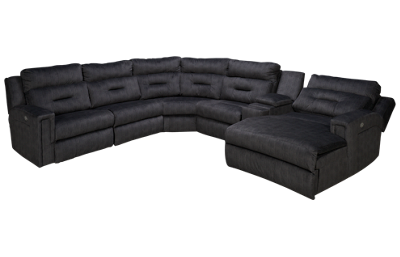 Southern Motion Excel 6 Piece Reclining Sectional with 3 Recliners with Tilt Headrest