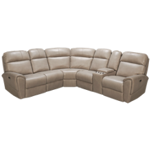Synergy Dakota 6 Piece Power Leather Reclining Sectional with Tilt Headrest