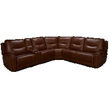 Kuka Impression 6 Piece Leather Sectional