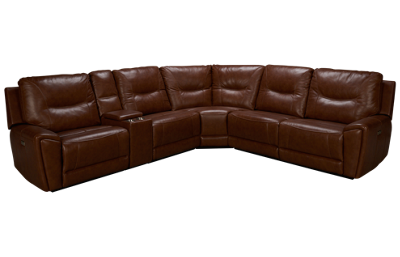 Kuka Impression 6 Piece Leather Sectional