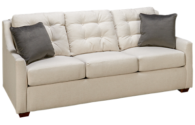 Klaussner Home Furnishings Grayton Queen Sleeper Sofa with Memory Foam Mattress