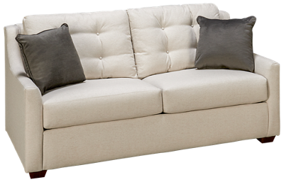 Klaussner Home Furnishings Grayton Full Sleeper Loveseat with Innerspring Mattress