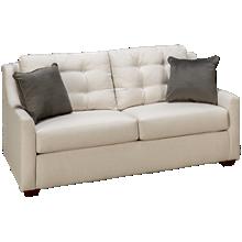 Klaussner Home Furnishings Grayton Full Sleeper Loveseat with Memory Foam Mattress