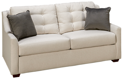 Klaussner Home Furnishings Grayton Full Sleeper Loveseat with Memory Foam Mattress