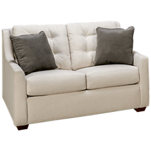 Klaussner Home Furnishings Grayton Twin Sleeper Loveseat with Innerspring Mattress