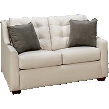 Klaussner Home Furnishings Grayton Twin Sleeper Loveseat with Memory Foam Mattress