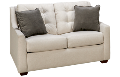 Klaussner Home Furnishings Grayton Twin Sleeper Loveseat with Memory Foam Mattress
