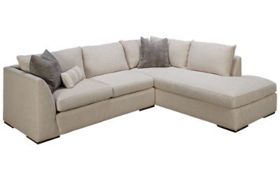 Klaussner Home Furnishings Flagler 2 Piece Sectional
