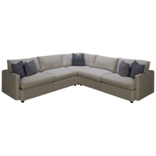 Klaussner Home Furnishings Leisure 3 Piece Sectional