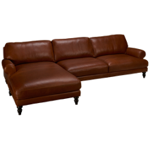 Soft Line Marlboro 2 Piece Leather Sectional