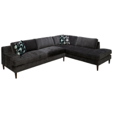 Klaussner Home Furnishings Talon 2 Piece Sectional