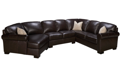 Kuka Pebble Beach 3 Piece Leather Sectional