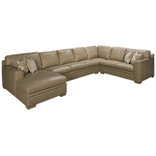 Simon Li Yuban 4 Piece Leather Sectional