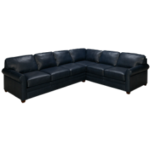 Klaussner Home Furnishings Custom 2 Piece Leather Sectional