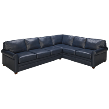 Klaussner Home Furnishings Living Your Way 2 Piece Leather Sectional