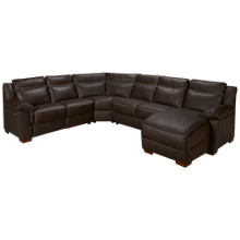 Natuzzi Editions Naples 4 Piece Reclining Leather Sectional