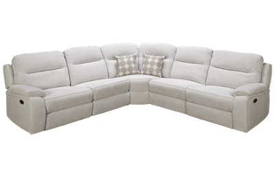 Synergy Margot Power 5 Piece Reclining Sectional with 3 Recliners with Tilt Headrest