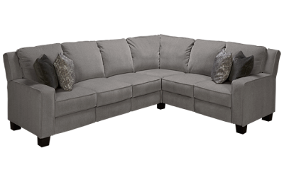 Southern Motion West End Power 3 Piece Reclining Sectional with 2 Recliners with Tilt Headrest