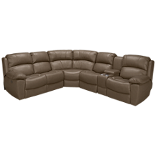 Synergy Larue Power 3 Piece Reclining Sectional with Tilt Headrest and Console
