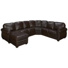 Palliser Key Arm 4 Piece Leather Sectional