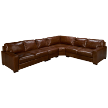 Soft Line Pista 4 Piece Leather Sectional