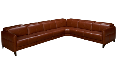 HTL Furniture Brandy Leather Power 4 Piece Reclining