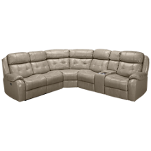 Synergy Flicks Leather Power 3 Piece Reclining Sectional with Tilt Headrest