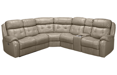 Synergy Montana 3 Piece Leather Reclining Sectional with Tilt Headrest