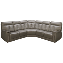 Palliser Oakley 5 Piece Leather Reclining Sectional with Tilt Headrest