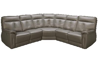 Palliser Oakley 5 Piece Leather Reclining Sectional with Tilt Headrest