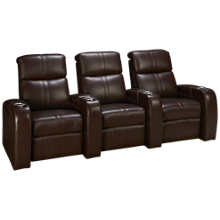 Palliser Flicks 3 Piece Reclining Leather Sectional with Power Tilt Headrest