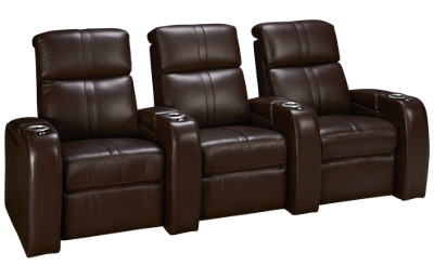 Palliser Flicks Leather Power 3 Piece Reclining Sectional