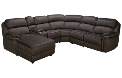 Synergy Daughtrey Power 6 Piece Reclining Sectional with Tilt Headrest