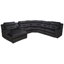 Southern Motion Excel 6 Piece Reclining Sectional with Tilt Headrest