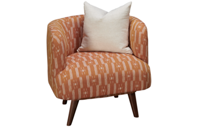 Jonathan Louis Design Lab Accent Swivel Chair with Toss Pillow