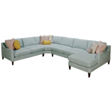 Jonathan Louis Design Lab 4 Piece Sectional with Toss Pillows