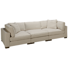 Max Home Bermuda 3 Piece Sectional Sofa