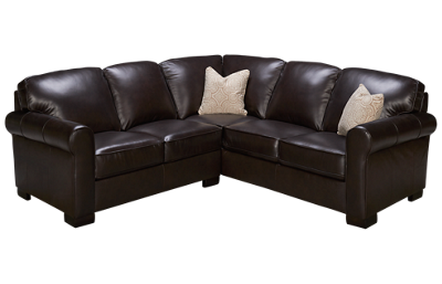 Kuka Pebble Beach 2 Piece Leather Sectional