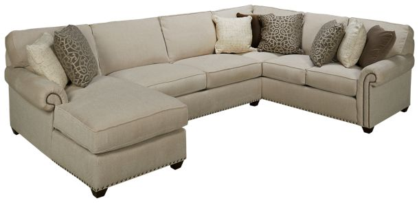 Rowe-Morgan-Rowe Morgan 3 Piece Sectional - Jordan\'s Furniture