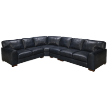 Soft Line Homestead 4 Piece Leather Sectional