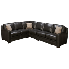 Simon Li El Paso 4 Piece Leather Sectional