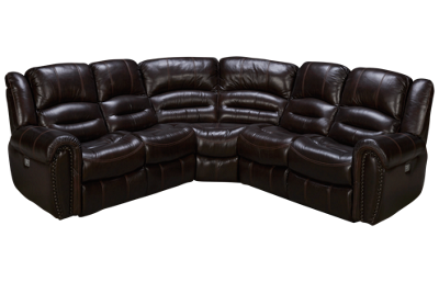 Flexsteel Crosstown 3 Piece Power Leather Sectional