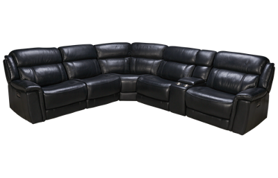 HTL Furniture Jaylen Leather Power 6 Piece Reclining