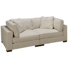 Max Home Bermuda 2 Piece Sectional Loveseat