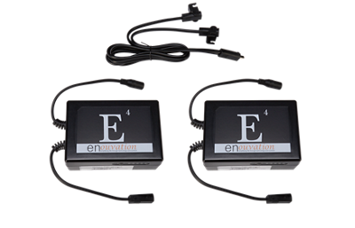 Enouvation Two E4 Battery Packs & 1 Y Splitter