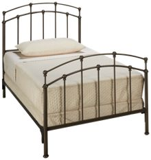 Fashion Bed Fenton Twin Bed Black Walnut