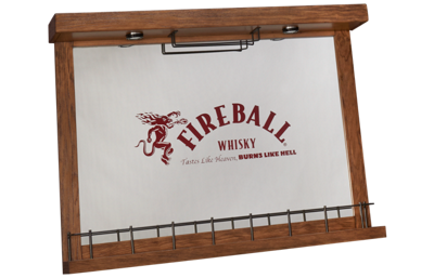 East Coast Innovators Fireball Bar Wall Mirror